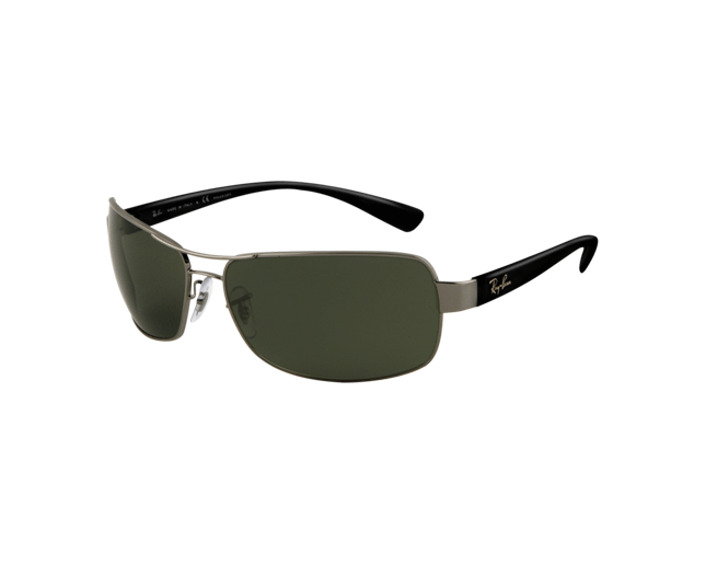 Ray-Ban RB3379 Gunmetal Crystal Green Polarized