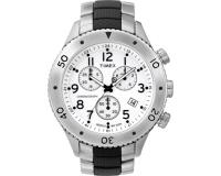 Timex T Serie Chronographe sport White Steel