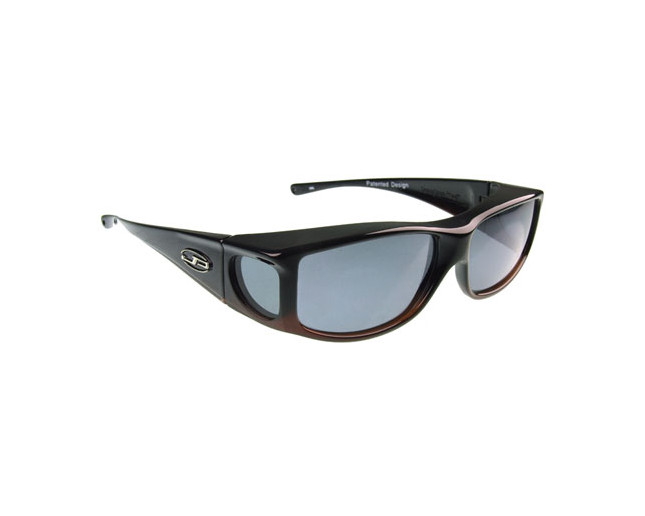 Fitovers Jett Matte Black Grey Polarized