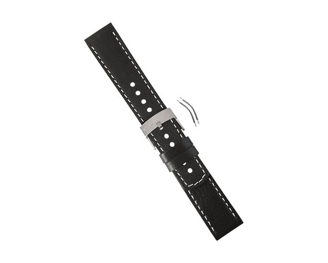 Suunto Bracelet Elementum Terra Cuir noir