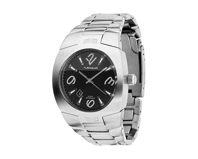 Vestal Gearhead Polished Silver/Black