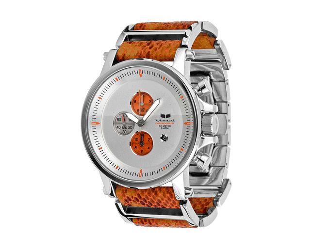 Vestal Plexi Snake Orange/Silver/Black