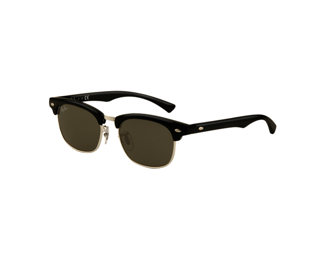 e1a062c9ae Ray-Ban Clubmaster Junior Shiny Black Plastic - RJ9050S 100 71 - Sunglasses  - IceOptic