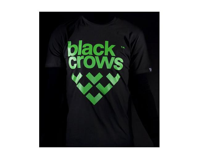 Black Tee Shirt Crows 06 Men's Tee Black Logo Green