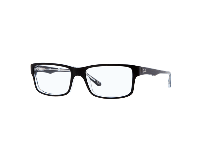 Ray-Ban RX5245 Top Black On Transparent