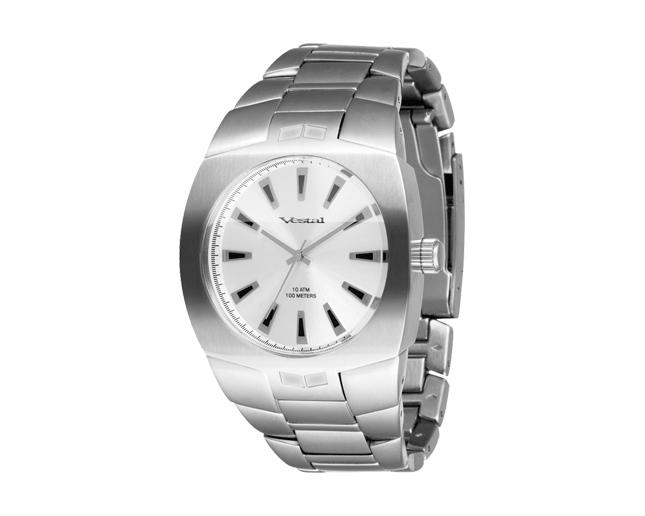 Vestal Gearhead Brushed Silver