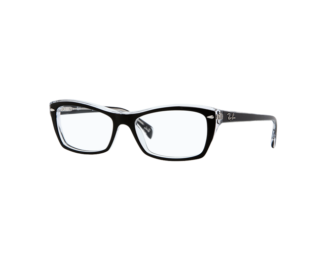 Ray-Ban RX5255 Top Black On Transparent