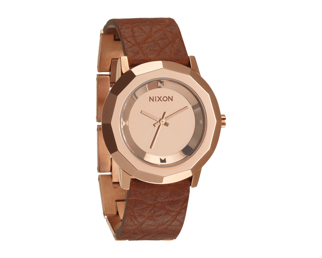 Nixon The Bobbi Rose Gold/Saddle