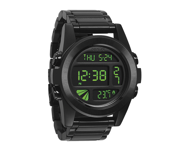 Nixon The Unit SS All Black/Green