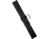 Suunto Bracelet Elementum Terra Cuir noir/rouge