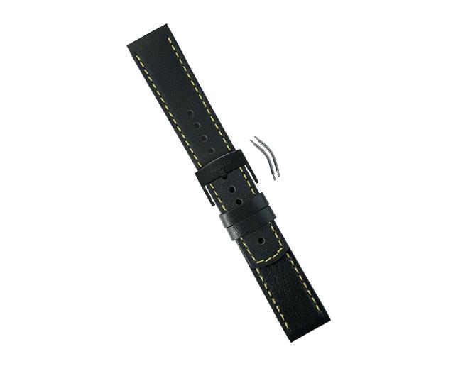Suunto Bracelet Elementum Cuir Black/Yellow