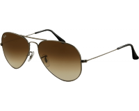 Ray-Ban Aviator Gunmetal Crystal Brown Gradient