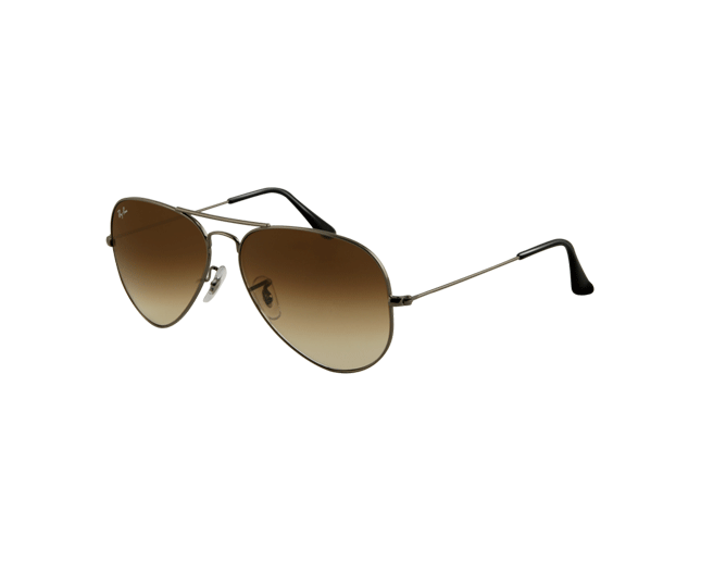 Ray-Ban Aviator Classic Gunmetal Crystal Brown Gradient
