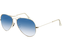Ray-Ban Aviator Classic Silver Crystal Gradient Light Blue