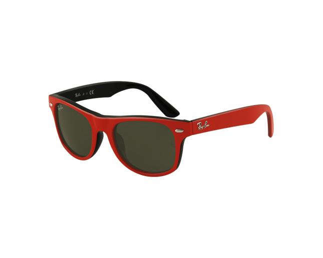 02ef5ad8f191 Ray-Ban Junior Wayfarer RJ9035S Top Red On Black Green - RJ9035S 147/90 -  Sunglasses - IceOptic