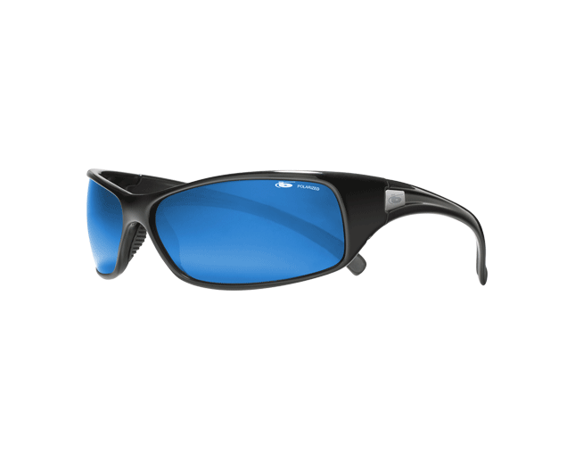 739a23710a Bolle Recoil Shiny Black Polar Off Shore Blue Oleo AR - 11051 - Sunglasses  - IceOptic
