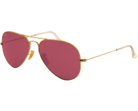 Ray-Ban Aviator Classic Gold Crystal Polar Pink