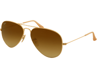 Ray-Ban Aviator Classic Matte Gold Brown Gradient