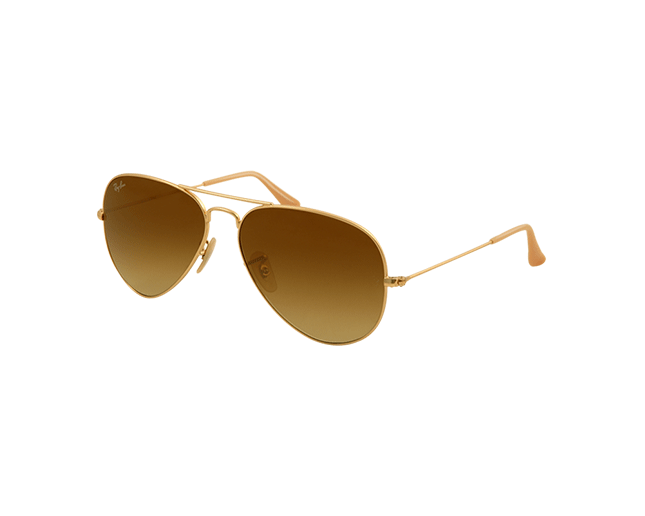 6e98cb6865be82 Ray-Ban Aviator Matte Gold Brown Gradient - RB3025 112 85 - Lunettes ...