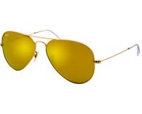 Ray-Ban Aviator Classic Matte Gold Brown Mirror Gold