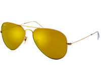 Ray-Ban Aviator Matte Gold Brown Mirror Gold