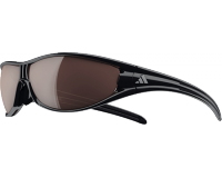 Adidas Evil Eye Large Shiny Black LST Polarized Silver