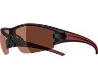 Adidas Evil Eye Halfrim S Matt Black/Red LST Polarized Silver H+
