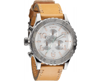 Nixon The 42-20 Chrono Leather Natural/Silver