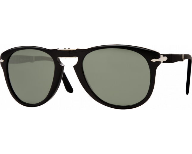 14cbefa33a0f9 Persol 0714 Folding Black Crystal Green Polarized - PO0714 95 58 -  Sunglasses - IceOptic