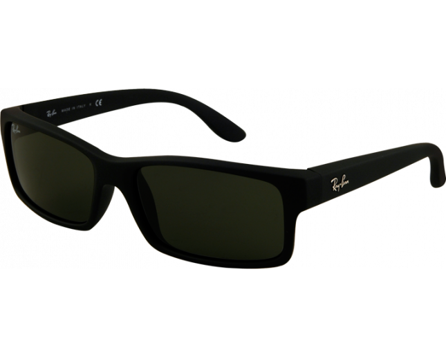 Ray-Ban RB4151 Rubber Black Crystal Green