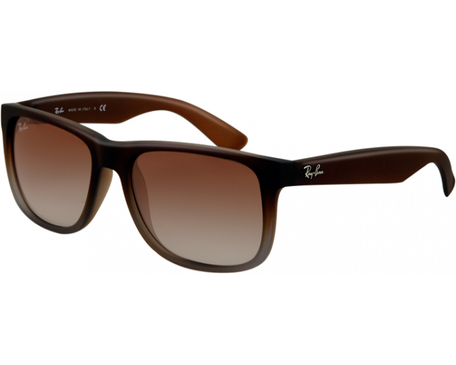 Ray Ban Justin Rubber Brown On Grey Green Gradient