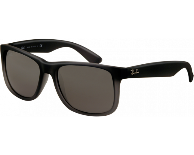 d08995bf24 Ray-Ban Justin Rubber Grey Grey Transparent Grey Silver Mirror Gradient -  RB4165 852 88 - Sunglasses - IceOptic