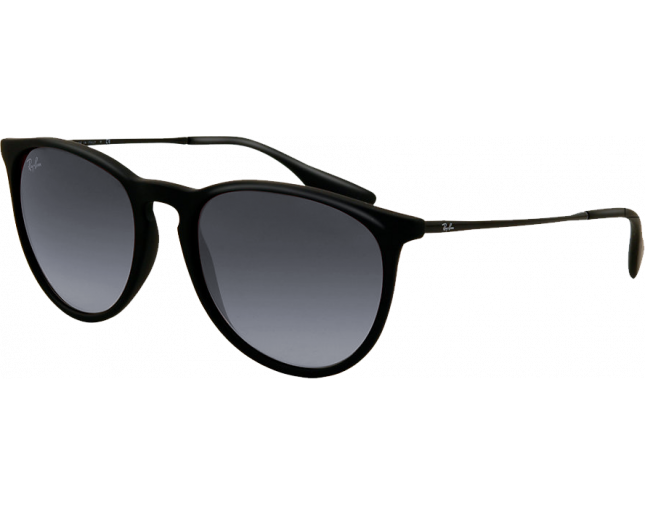 Ray-Ban Erika Rubber Black Grey Gradient - RB4171 622 8G - Lunettes ... 015c2e49677d