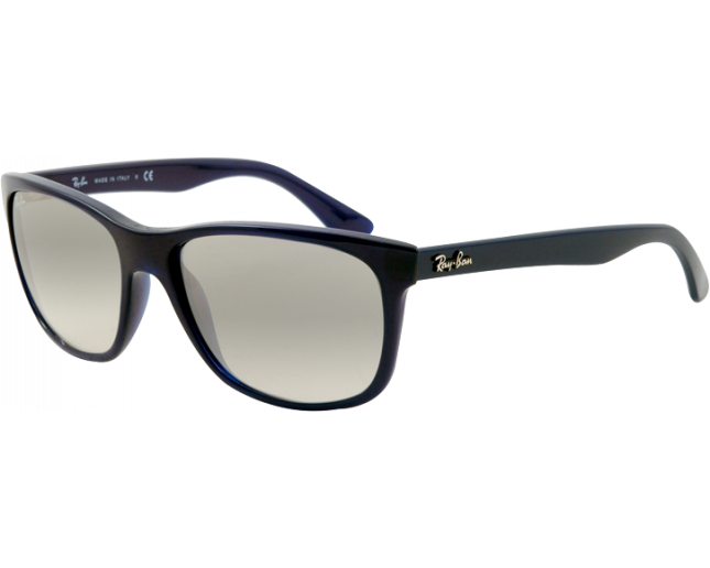 ea2ce2f1e1 Ray-Ban RB4181 Shiny Blue Crystal Grey Gradient - RB4181 629 32 ICE -  Sunglasses - IceOptic