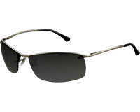 Ray-Ban Top Bar Square Gunmetal Polar Grey Mirror Silver Gradient