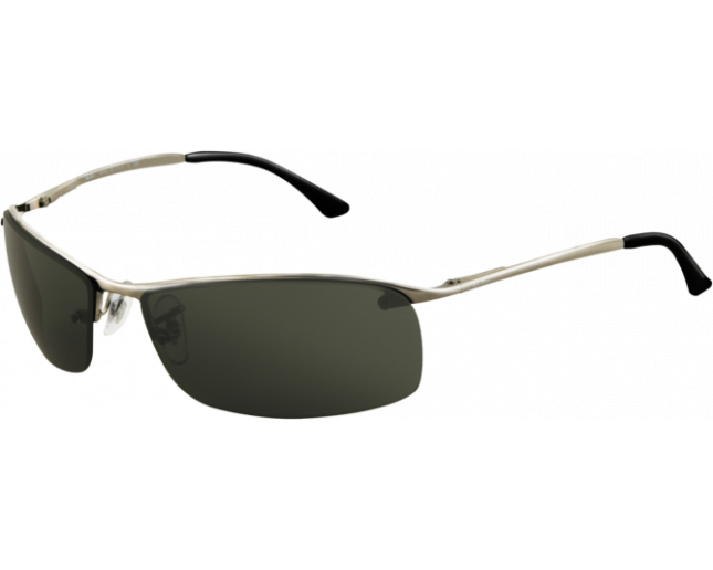 Beau Ray Ban Top Bar Square Gunmetal Green
