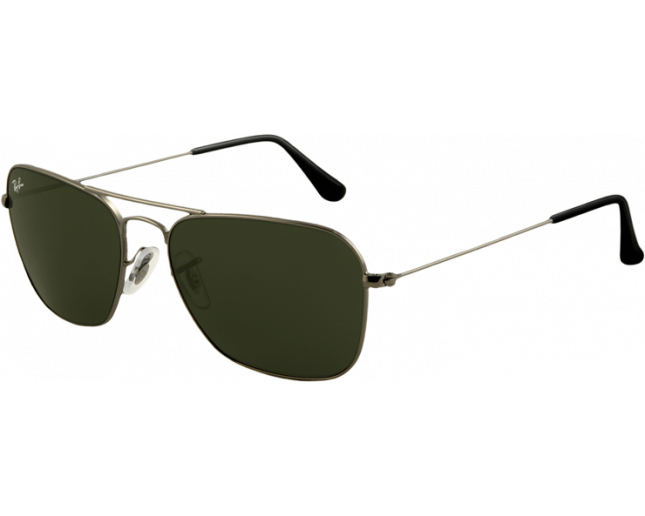 a4c4929b0f Ray-Ban Caravan Flash Lenses Gunmetal Crystal Green - RB3136 004 -  Sunglasses - IceOptic