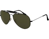 Ray Ban Outdoorsman II Black Crystal Green
