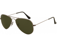 Ray-Ban Aviator Classic Small Gunmetal Crystal Green