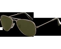Ray-Ban Aviator Small Gunmetal Crystal Green