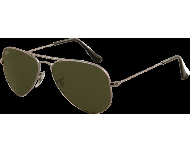 Ray-Ban Aviator Classic Small Gunmetal Crystal Green