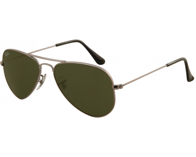 Ray-Ban Aviator Small Gunmetal Crystal Green