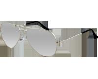 Ray-Ban Aviator Classic Silver Crystal Grey Mirror