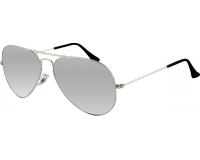 Ray-Ban Aviator Silver Crystal Grey Mirror