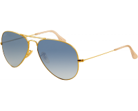 Ray-Ban Aviator Classic Gold Crystal Gradient Light Blue