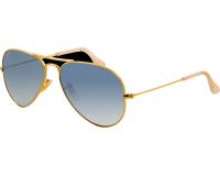 Ray-Ban Aviator Large II Gold Crystal Gradient Light Blue