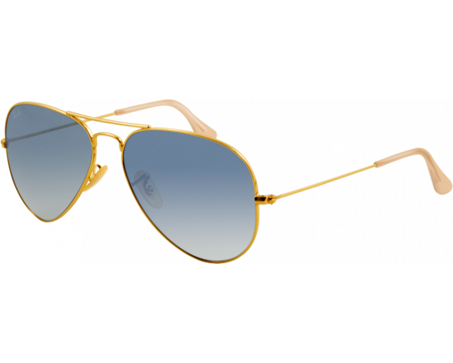 Ray-Ban Aviator Gold Crystal Gradient Light Blue - RB3025 001 3F -  Sunglasses - IceOptic 8e469a965d