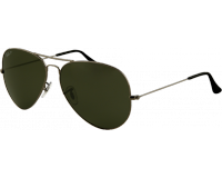 Ray-Ban Aviator Large Gunmetal Crystal Green Polarized