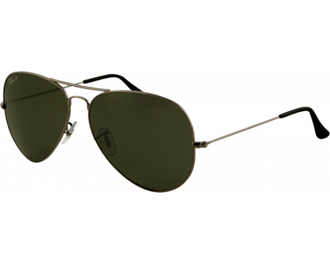 Ray-Ban Aviator Classic Large Gunmetal Crystal Green Polarized