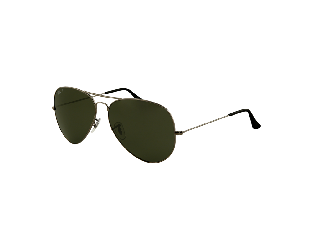 Ray Ban Aviator Large Gunmetal Crystal Green Polarized